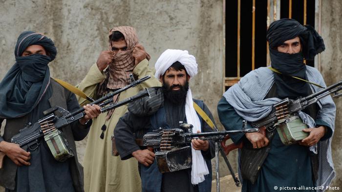 Milicianos talibanes en la provincia de Farah, Afganistán