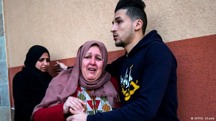 Palästina Demonstration an der Grenze zu Israel