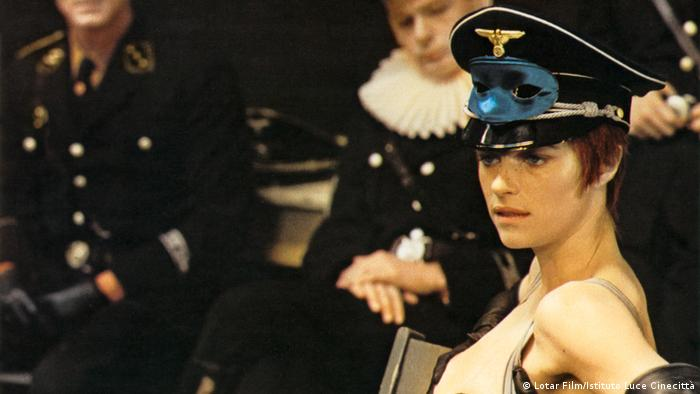 Still from The Night Porter, Charlotte Rampling (Lotar Film/Istituto Luce Cinecittà)