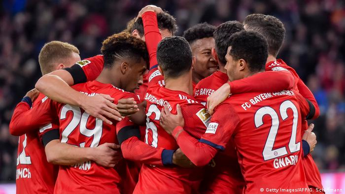 Bundesliga team Bayern Munich on February 9, 2019
