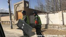 China XinJiang Polizeipatrouillen