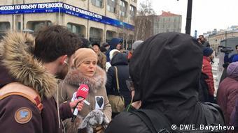 Ирина Прохорова на Марше материнского гнева в Москве