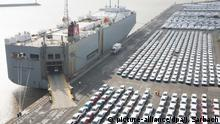 Cars for export at Emden port