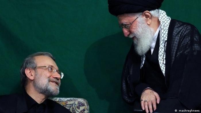 رهبر جمهوری اسلامی، علی خامنهای و رئیس مجلس علی لاریجانی
