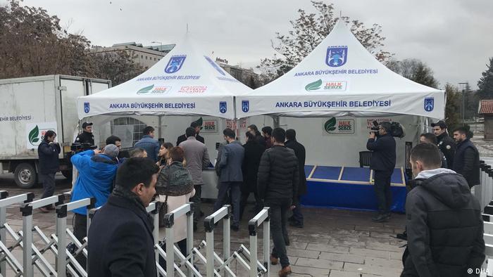 Türkei Marktstand in Ankara (DHA)