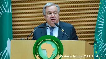 Äthiopien Gipfeltreffen der Afrikanischen Union in Addis Abeba Antonio Guterres