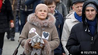 Литературовед Ирина Прохорова на марше в поддержку политзаключенных в Москве, 10 февраля 2019 года