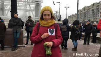 Фаина впервые пришла на акцию протеста