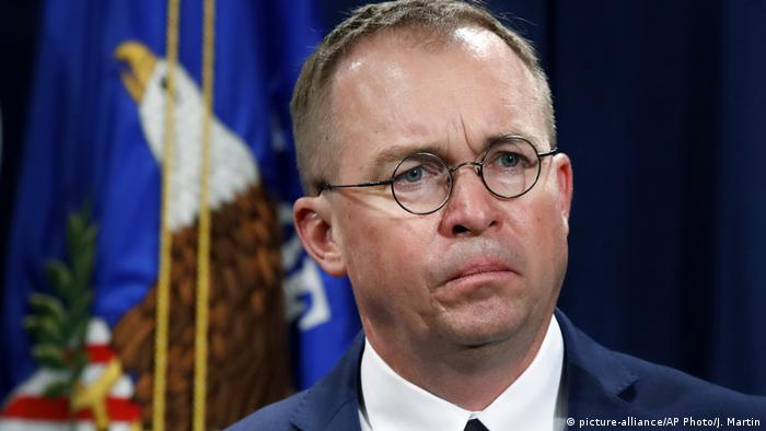 USA Mick Mulvaney Direktor Office of Management and Budget (picture-alliance/AP Photo/J. Martin)