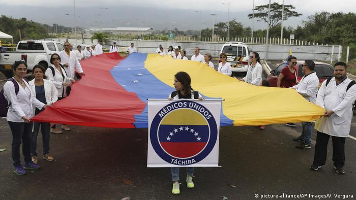 Venezuela Kolumbien Grenze bei Cucuta