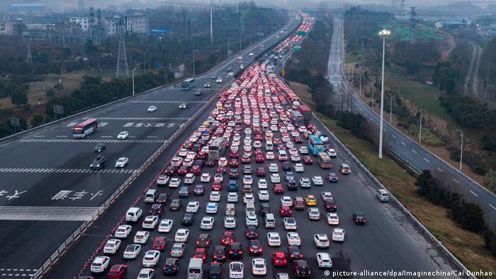 China Stau zum Neuen Jahr - Das Jahr des Schweins (picture-alliance/dpa/Imaginechina/Cai Dunhao)