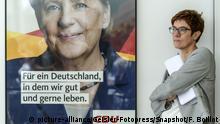 Deutschland PK CDU/CSU - Asyl-Streit | Annegret Kramp-Karrenbauer