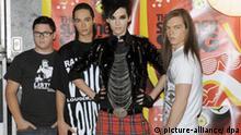 German band Tokio Hotel, Gustav Klaus Wolfgang Schäfer (L-R), Tom Kaulitz, Bill Kaulitz and Georg Moritz Hagen Listing at Coca-Cola Live@MTV - The Summer Song Concert in Rome, September 26, 2009. Photo: Virginia Farneti/Lapresse +++(c) dpa - Report+++
