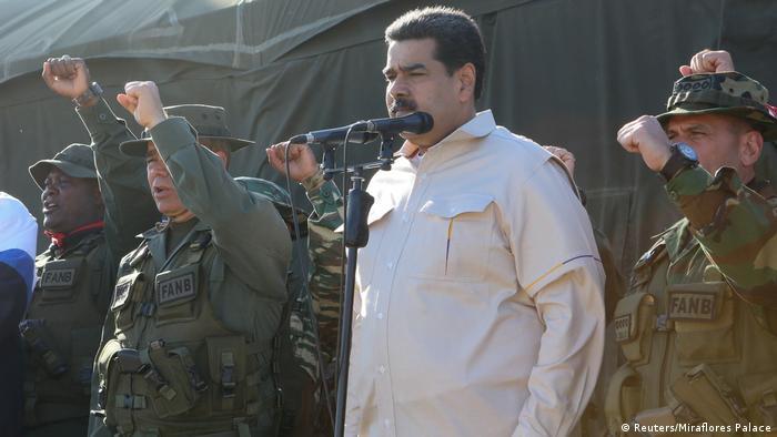 Maduro at a Venezuelan military parade