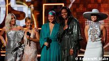 61st Grammy Awards - Show - Los Angeles, California, U.S., February 10, 2019 - Lady Gaga, Jennifer Lopez, Alicia Keys, former first lady Michelle Obama and Jada Pinkett Smith. REUTERS/Mike Blake