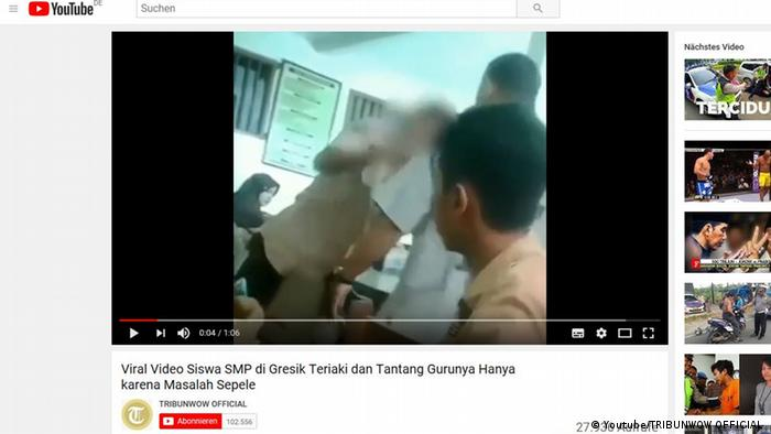 Screenshot Youtube Indonesien (Youtube/TRIBUNWOW OFFICIAL )