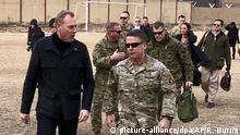 Afghanistan - US-Verteidigungsminister Shanahan in Kabul