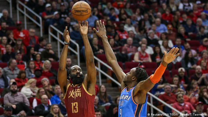 Basketball NBA Oklahoma City Thunder at Houston Rockets | James Harden
