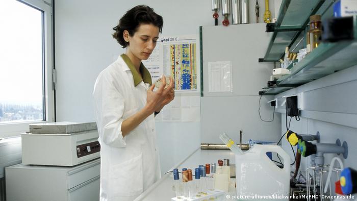 Female scientist in a lab