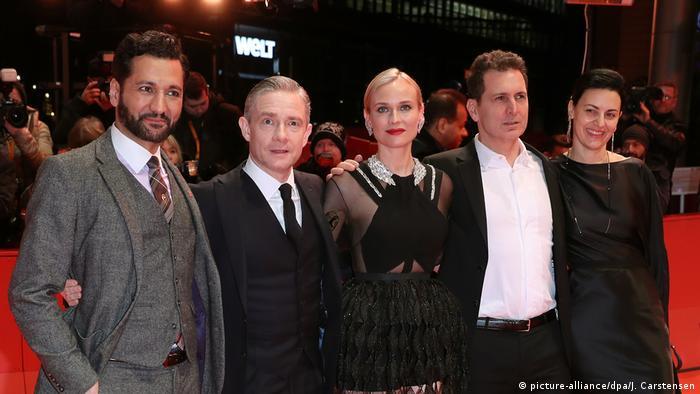 Berlin - 69. Berlinale: Cas Anvar, Martin Freeman, Diane Kruger, Aglika Dotcheva zur Premiere des Films «The Operative