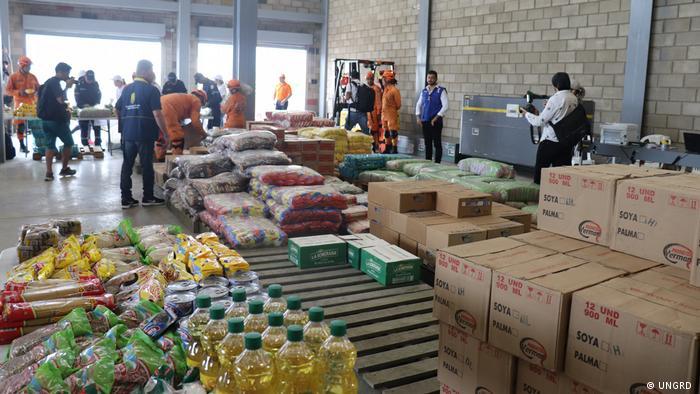 Kolumbien - Sammellager der Humanitäre Hilfe für das venezolanisches Volk in Cúcuta (UNGRD )