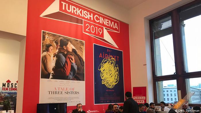 Berlinale kapsamındaki Türk standından bir görüntü