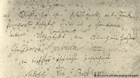 Capa do manuscrito da Nona Sinfonia de Beethoven