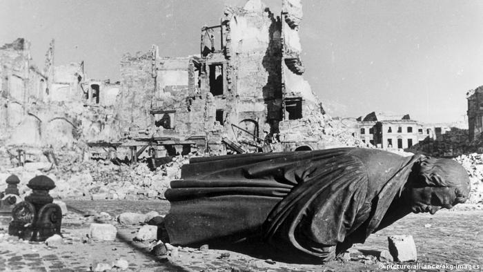 Dresda după bombardamentul din 1945