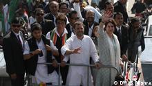 Indien Rahul und Priyanka Gandhi in Lucknow