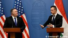 Ungarn - Ungarischer Außenminister Szijarto empfängt US-Außenminister Pompeo in Budapest