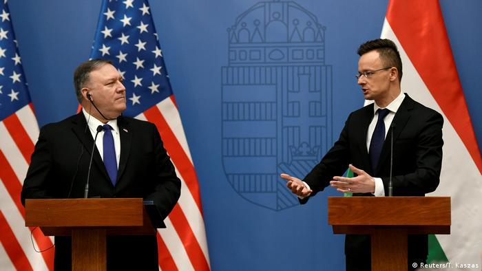 Ungarn - Ungarischer Außenminister Szijarto empfängt US-Außenminister Pompeo in Budapest (Reuters/T. Kaszas)