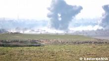 Syrien IS - Kampf um Baghus - Rauchwolken über der Provinz Deir Al Zor