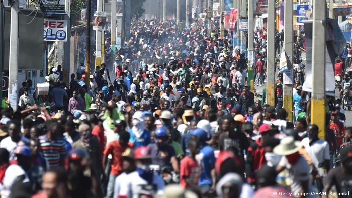 Haiti Proteste Ausschreitungen (Getty Images/AFP/H. Retamal)