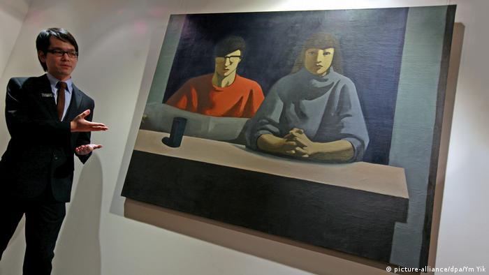 Sotheby's Geng Jianyi Gemälde Versteigerung (picture-alliance/dpa/Ym Yik)