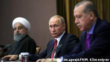 Syrien Konferenz in Sotschi 2017 Rohani, Putin und Erdogan