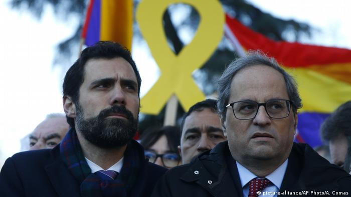 Roger Torrent and Quim Torra