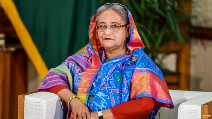 Bangladesch - DW Chefredakteurin Ines Pohl, Leiterin DW-Asien Debarati Guha treffen Premierminister Sheikh Hasina in Dhaka (DW)