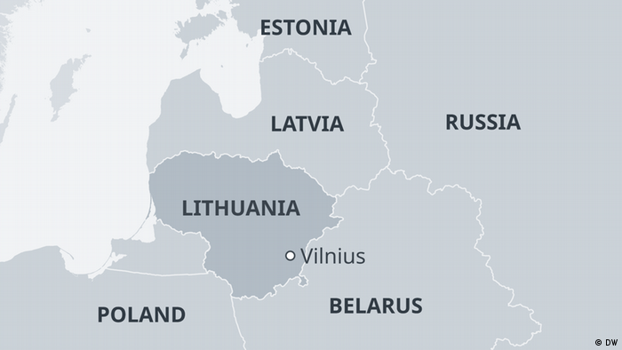 Map of Lithuania (DW)