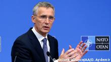 BRUSSELS, BELGIUM - FEBRUARY 12: NATO Secretary General Jens Stoltenberg holds a press conference ahead of a Defense Ministers meeting, in Brussels, Belgium on February 12, 2019. Dursun Aydemir / Anadolu Agency   Keine Weitergabe an Wiederverkäufer.