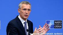 NATO Jens Stoltenberg PK zum Ministertreffen in Brüssel