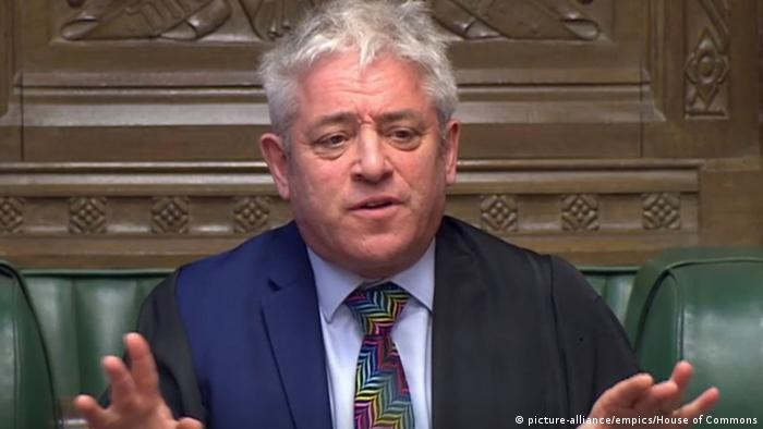Großbritannien Debatte zum Brexit im Unterhaus in London | John Bercow, Speaker (picture-alliance/empics/House of Commons)