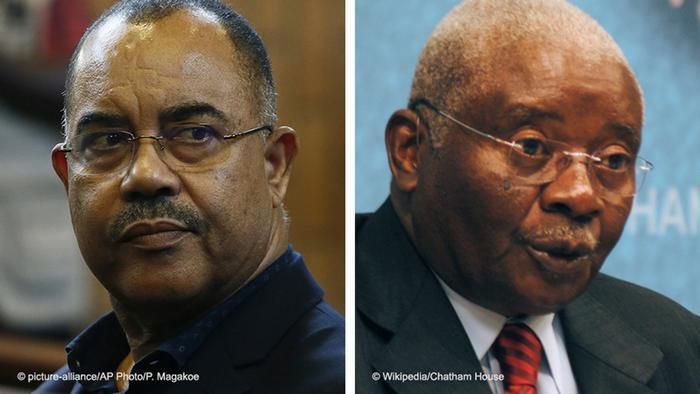 Deputado da FRELIMO Manuel Chang e antigo-Presidente Armando Guebuza
