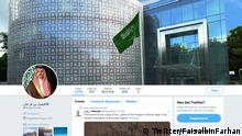 Screenshot Twitter Account von Faisal Bin Farhan Al Saud