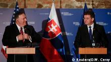 Slowakei Mike Pompeo, US-Außenminister & Miroslav Lajcak in Bratislava