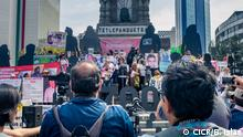 Mexiko Internationaler Tag der Verschwundenen Demonstration in Mexiko-Stadt