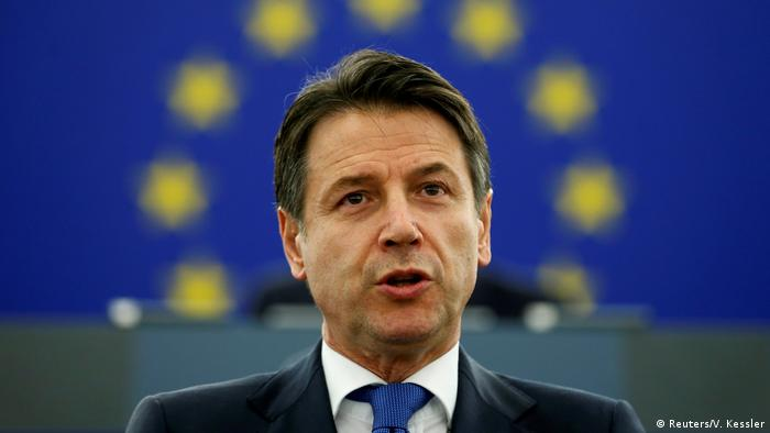 Straßburg Europäisches Parlament Giuseppe Conte (Reuters/V. Kessler)