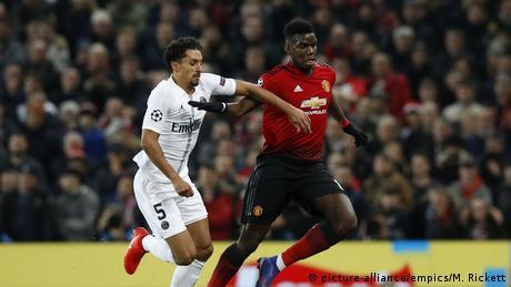 من مواجهة باريس سان جيرمان ومانشستر يونايتد في دوري الأبطال