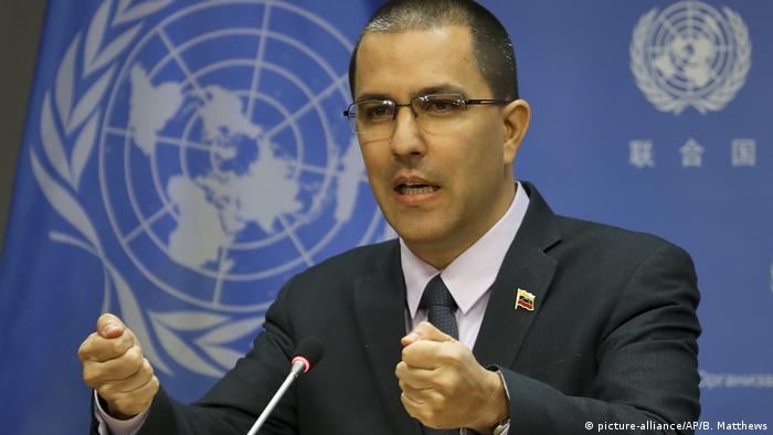 USA, New York: Jorge Arreaza im UN Hauptsitz (picture-alliance/AP/B. Matthews)