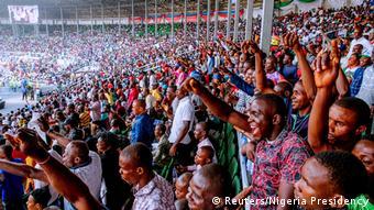 Nigeria, Rivers: Anhänger des nigerianischen Präsidenten Muhammadu Buhari