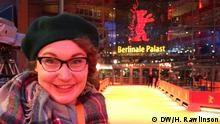 Zulieferung durch Hallie Rawlinson Standing right by the red carpet at the Berlinale Palast.